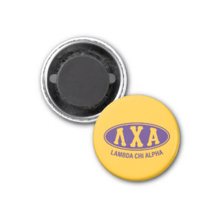 Lambda-Chi-Alpha   Vintag Runder Magnet 3,2 Cm