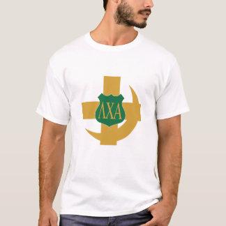 Lambda-Chi-Freundschafts-Button T-Shirt