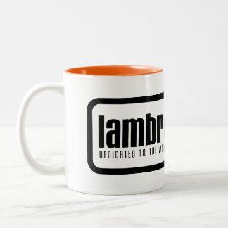 Lambrettista Logo-Tasse Zweifarbige Tasse