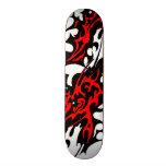 Lames tribales de tatouage (rouge et noir) skateboards cutomisables