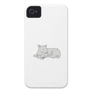 Lamm-Schlafenzeichnen iPhone 4 Case-Mate Hülle