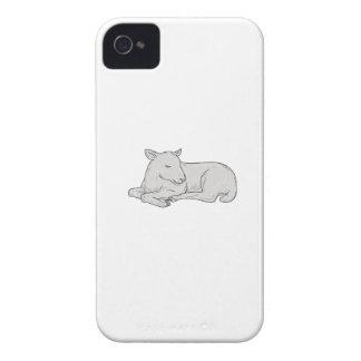 Lamm-Schlafenzeichnen iPhone 4 Hülle