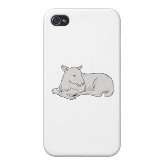 Lamm-Schlafenzeichnen iPhone 4 Schutzhülle
