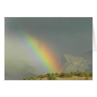 Lamoille Schlucht-Regenbogen Mitteilungskarte