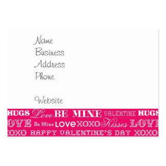 L'amour des roses indien XOXO soit heureuse Carte De Visite Grand Format