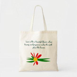 L'amour est comme un beau sac fourre-tout à fleur