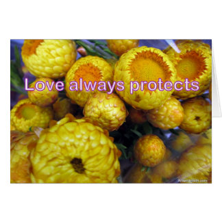 L'amour se protège toujours carte de vœux
