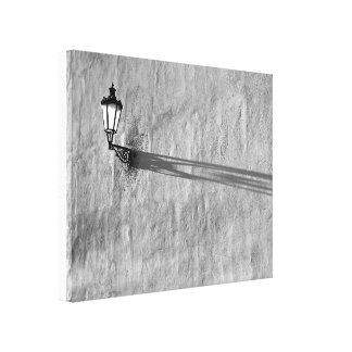 Lampe und Schatten auf Wand Leinwanddruck