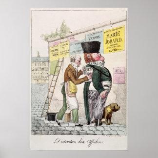 L'amusement d'un autocollant de Bill, 1820 Poster
