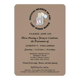 L'amusement, mais la partie de retraite chique carton d'invitation  12,7 cm x 17,78 cm