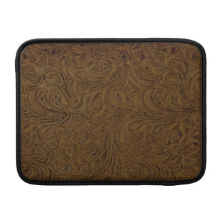 Land Brown bearbeitete ledernen Blick MacBook Air Sleeve