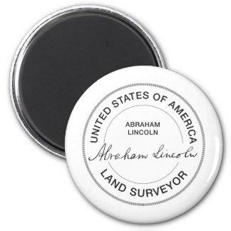 Land-Feldmesser-Siegel Abraham Lincoln US Runder Magnet 5,7 Cm