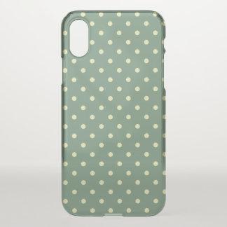 Land-grüne/helle Creme-Tupfenmuster iPhone X Hülle