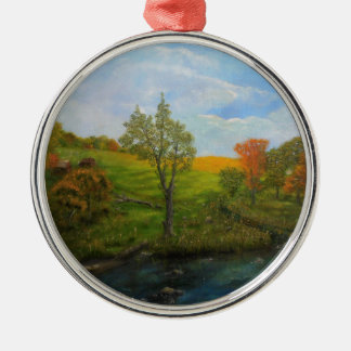 Land-Herbst Silbernes Ornament