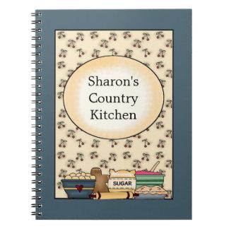 Land-Küchen-Blau-Notizbuch Spiral Notizbuch