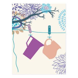 Land-Küchen-Flaschen, Schüttele-Apparat, Krug Postkarte