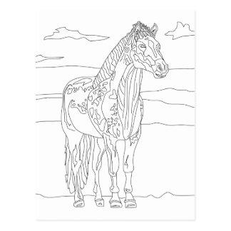 Land-lebendes Pferd Postkarte