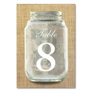 Land-Leinwand-Maurer-Glas-Tischnummern