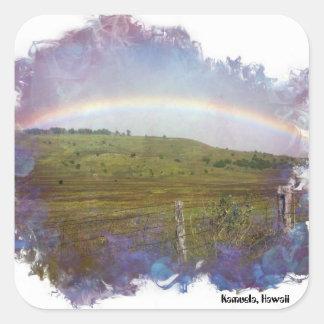 Land-Regenbogen Quadratischer Aufkleber
