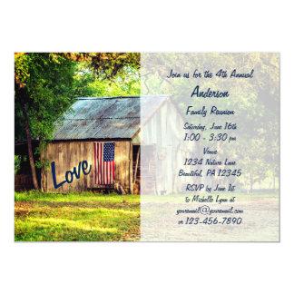 Land-Scheunen-amerikanische 12,7 X 17,8 Cm Einladungskarte