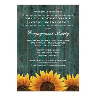 Land-Sonnenblume-Verlobungs-Party Einladungen