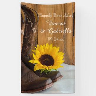 Land-Sonnenblume-Western-Hochzeit Banner