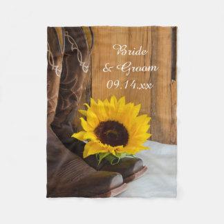 Land-Sonnenblume-Western-Hochzeit Fleecedecke