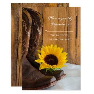Land-Sonnenblume-Western-Hochzeit UAWG Antwort Karte
