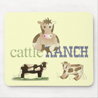 Land-Spaß-Comic schüchtert Vieh-Ranch Mousepad ein