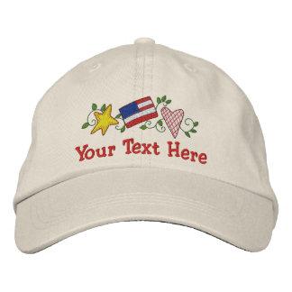 Land USA - Fertigen Sie besonders an Bestickte Mütze