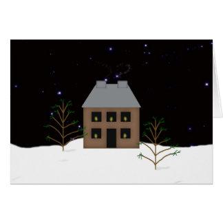 Land-Zuhause-große Schriftart-Weihnachtskarte Karte
