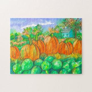 Land-Zuhause-Kürbis-Flecken-Herbst-Jahreszeit
