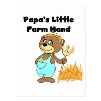 Landarbeiter-T-Shirts und Geschenke des Papas Postkarte