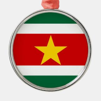 Landesflagge-Nationssymbol Surinams Surinam Silbernes Ornament
