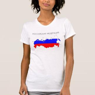 Landesflaggekarten-Formsymbol der Russischen T-Shirt
