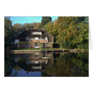 Landhaus auf dem Vecht Fluss Karte