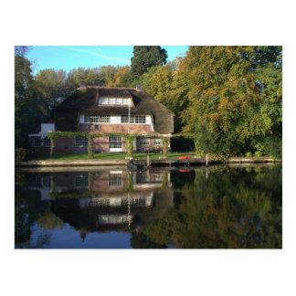 Landhaus auf dem Vecht Fluss Postkarte