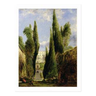 Landhaus D'Este, Tivoli (Öl auf Leinwand) Postkarte
