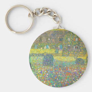 Landhaus Gustav Klimt durch das Attersee Schlüsselanhänger