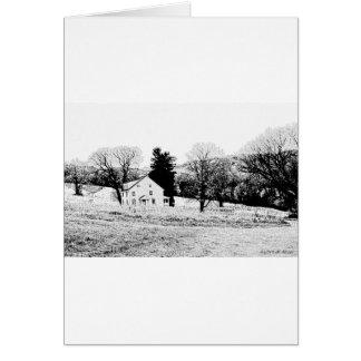 Landhaus-herein Rückseite und Weiß Karte