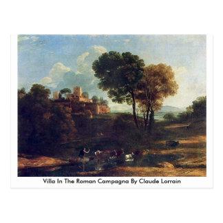 Landhaus in der römischen Campagna durch Claude Postkarte