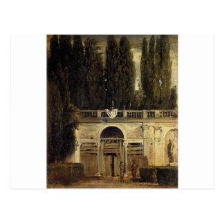 Landhaus Medici in Rom durch Diego Velazquez Postkarte