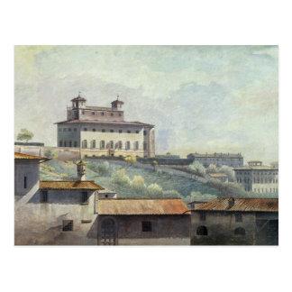 Landhaus Medici, Rom, c.1776 (Öl auf Papier) Postkarte