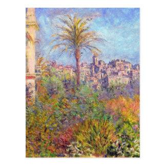 Landhäuser bei Bordighera 03 durch Claude Monet Postkarte