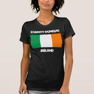 Landkreis Donegal, Irland mit irischer Flagge T-Shirt