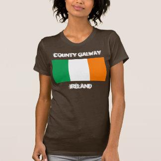 Landkreis Galway, Irland mit irischer Flagge T-Shirt