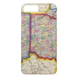 Landkreis-Karte von Ohio und von Indiana iPhone 8 Plus/7 Plus Hülle