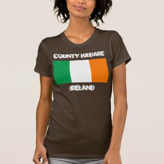 Landkreis Kildare, Irland mit irischer Flagge T-Shirt
