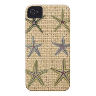 Landleinwandstrand-Chic Starfish des Seashell iPhone 4 Cover
