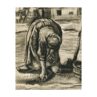 Ländliche Frau Vincent van Goghs, die Kartoffeln Galerie Gefaltete Leinwand